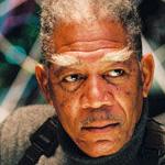 Morgan Freeman has X-men eyebrows in Dreamcatcher