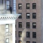 Worthington looks down on NYC