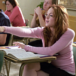 Lohan makes her way in high school among the mean girls