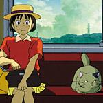 Shizuku follows a cat to an antique store