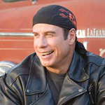 For Travolta, it's the chance to show a quasi-wimpy side