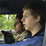 Cera plays -- surprise -- a baby-faced high-school kid who's afraid he'll die a virgin