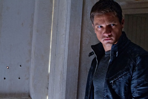 Renner has the intensity of a thriller star