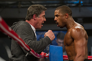 Rocky mentors Adonis in and out of the ring