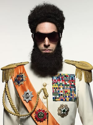 Sacha Baron Cohen is Aladeen, the dictator