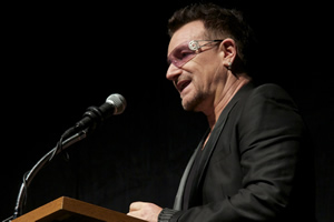 Bono at the TIFF world premiere