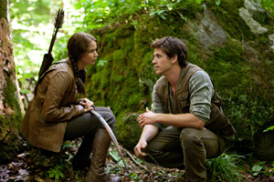 Katniss and Peeta take a break from the games
