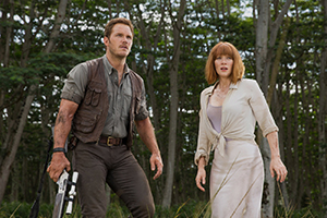 Chris Pratt and Bryce Dallas Howard try to survive Jurassic World
