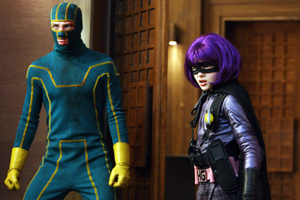 Kick-Ass and Hit Girl help their fellow men by trampling villains