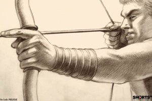 Pencil sketches flow together in Prologue