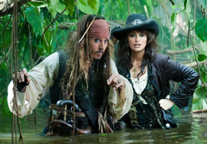 Jack and Angelica wade through stranger tides