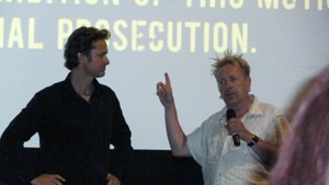 Director Jens Lien and John Lydon (Johnny Rotten) answer questions in Toronto
