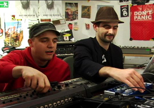 Modeselektor in the studio