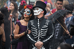 James Bond enjoys a Day of the Dead