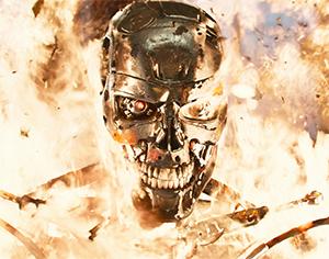 Endoskeleton en fuego
