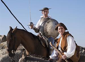 Coogan and Brydon: Striking a pose as Don Quixote and Pancho Sanza