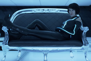 Olivia Wilde is Quorra in Tron: Legacy