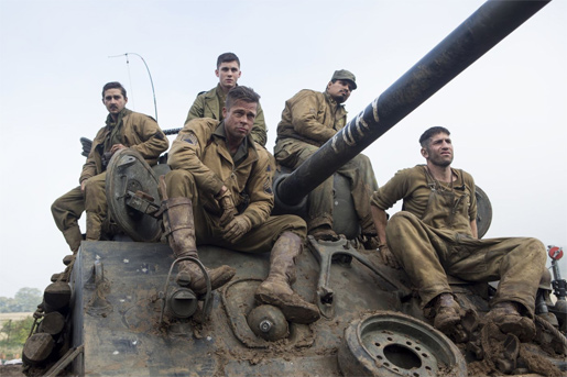 The cast (and crew) of Fury