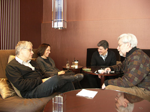 Lawrence Kasdan, Meg Kasdan, producer Anthony Bregman, and Robert Denerstein